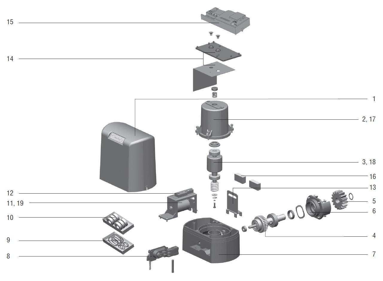 привод для откатных ворот came схема подключения
