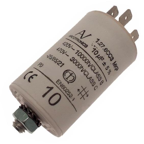 CAME 119RIR294   Конденсатор 10 мкФ со сдвоенными выводами и болтом CAME ce7c45eb8c12