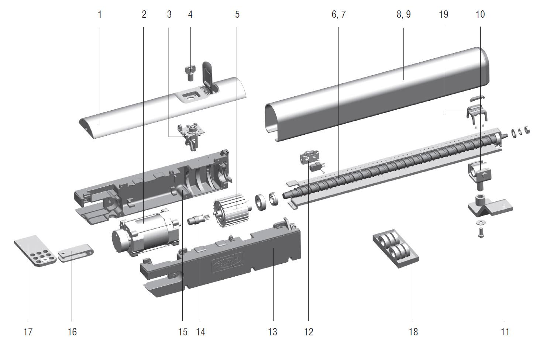 схема проводки шлагбаума