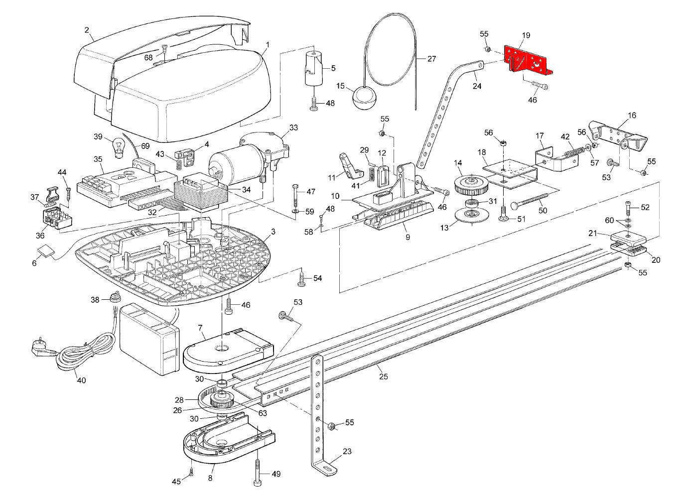 схема сборки автоматических дверей faac a100